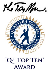 The Toy Man Q1 Top Ten Products Award.