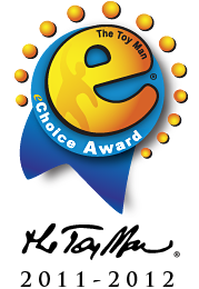 The Toy Man® eChoice™ Award, by Rev. James G.W. Fisher, (Chief editor and Product Evaluation Specialist of The Toy Man® Product Guide), and staff.   These products have demonstrated that they possess the potential as well as high probability to be top sellers.