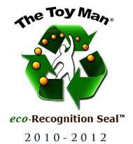 The Toy Man® eco-Recognition Seal™, by Rev. James G.W. Fisher, (Chief editor and Product Evaluation Specialist of The Toy Man® Product Guide), and staff.   These products have demonstrated that they possess the potential as well as high probability to be top sellers.