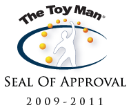 Since 1971 The Toy Man® Seal of Approval has served as an emblem of professional recognition for a  product or service having met the strict evaluation standards of The Toy Man® Product Guide.