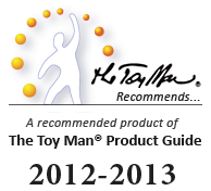 The Toy Man® Recommends...™ Award is by far, the most challenging of our awards to acquire.  Products that receive this award are officially <em>recommended</em> by The Toy Man® Product Guide. They are given recognitionas being one of the limited few judged as having the best return on investment. This includes yet not limited to both immediate and long term benefit from use.