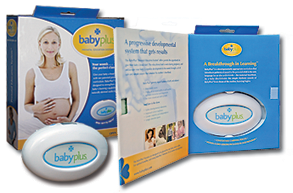 Image of some of the features of the babyplus Prenatal Education System