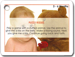 Image of card from braininsights Love You Baby packet.
