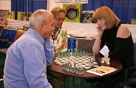 Image of the Cubed3 Chess game in live action at CHITAG 2009 in Chicago.