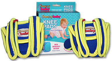 Example of the Amazing Baby Image of the Snazzy Baby Knee Pads and Box