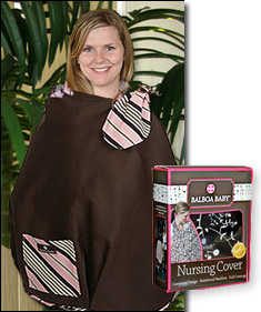 Image of our voluteer evaluator wearing the Balboa Baby� Nursing Cover for an example image.