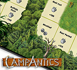 An image of the CampAntics board game.