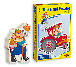 Image of the HABA Little Hands Animal Puzzles box.