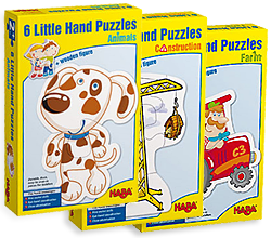Image of the various HABA Little Hands Puzzles products.