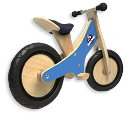 An image of teh Kinderfeets Bike in Blue