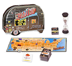 Image of the Road Trip board game playing pieces.
