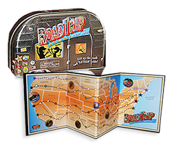 Image of the Roiad Trip board game with the game board.