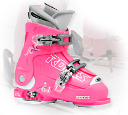 Image of Roces IDEA 6-in-1 Kids Adjustable Ski Boots - Pink